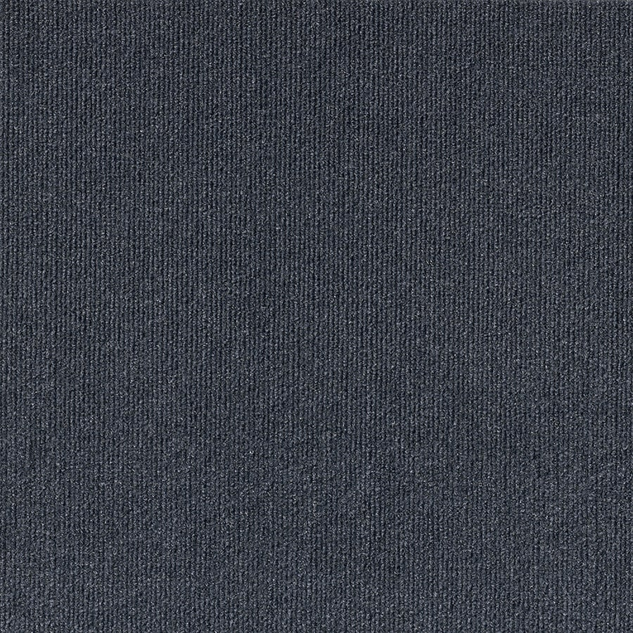Varna 16-Pack 18-in x 18-in Ocean Blue Needlebond Peel-And-Stick Carpet Tile