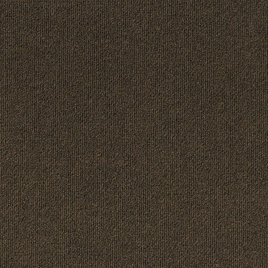 Varna 16-Pack 18-in x 18-in Mocha Needlebond Peel-And-Stick Carpet Tile