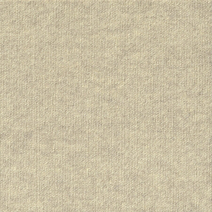 Varna 16-Pack 18-in x 18-in Ivory Needlebond Peel-And-Stick Carpet Tile