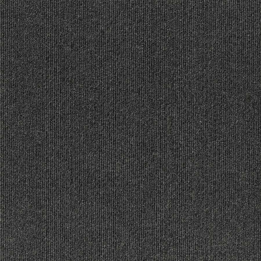 Varna 16-Pack 18-in x 18-in Black Ice Needlebond Peel-And-Stick Carpet Tile