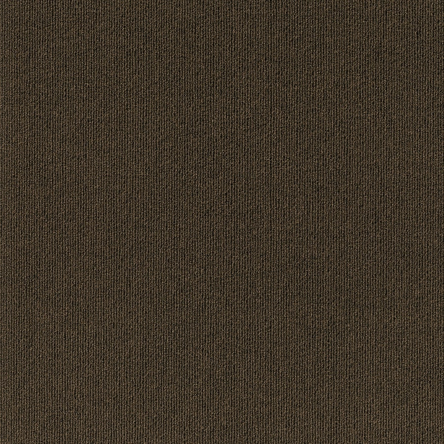Contour Rib 15-Pack 24-in x 24-in Mocha Needlebond Adhesive-Backed Carpet Tile