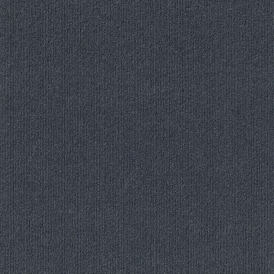 Contour Rib 15-Pack 24-in x 24-in Denim Indoor/Outdoor Needlebond Peel-and-Stick Carpet Tile