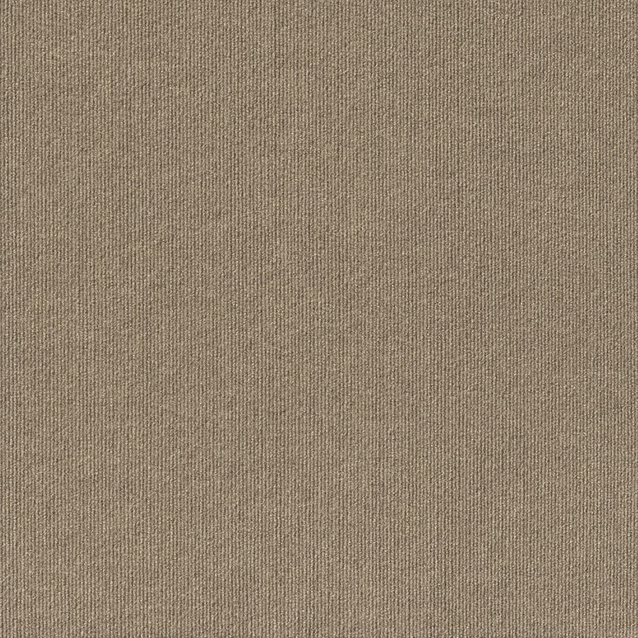 Contour Rib 15-Pack 24-in x 24-in Taupe Needlebond Adhesive-Backed Carpet Tile