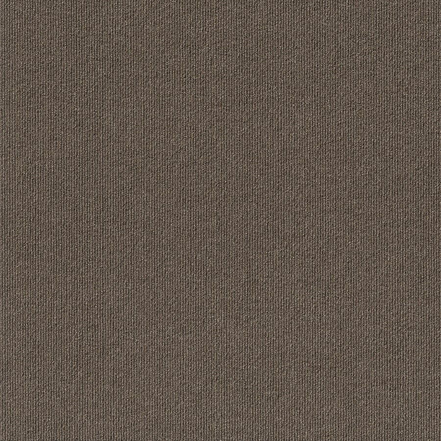 Contour Rib 15-Pack 24-in x 24-in Espresso Needlebond Adhesive-Backed Carpet Tile
