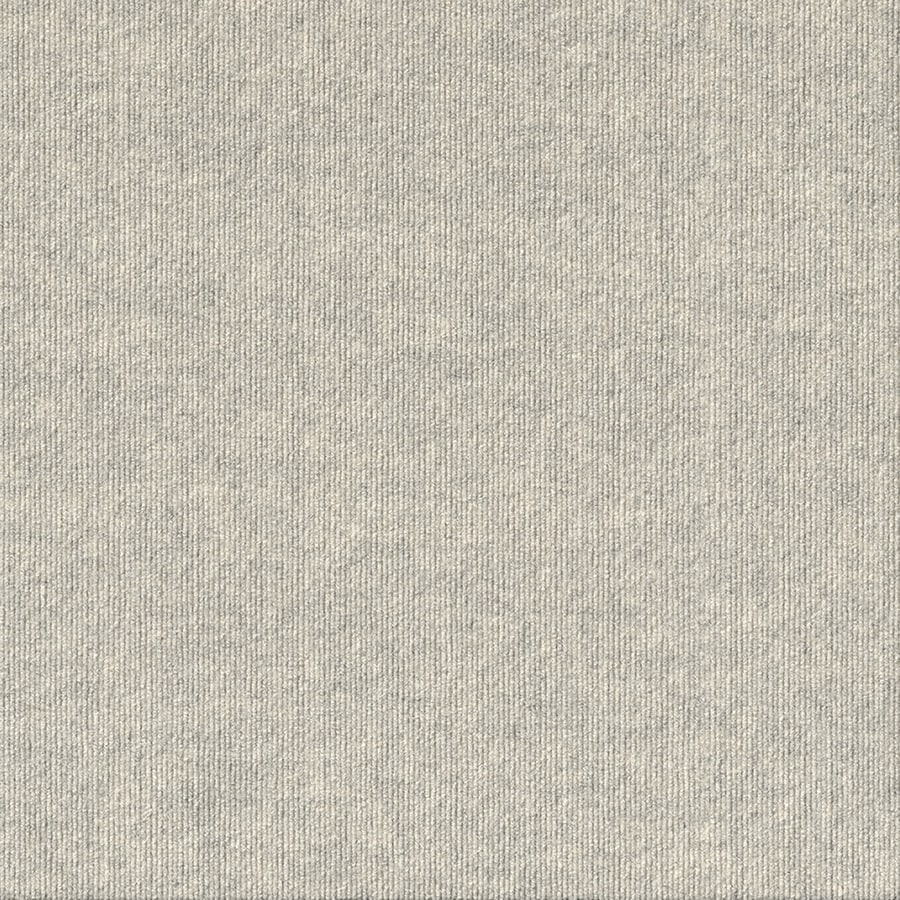 Contour Rib 15-Pack 24-in x 24-in Oatmeal Indoor/Outdoor Needlebond Peel-and-Stick Carpet Tile