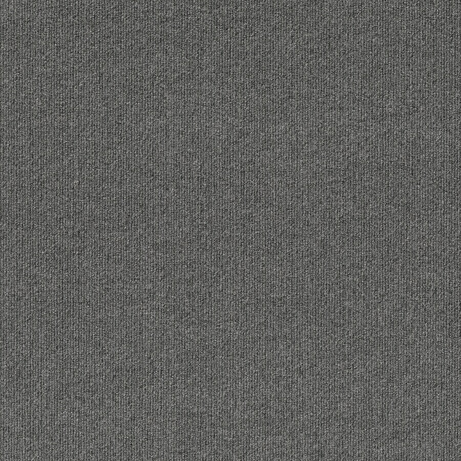 Contour Rib 15-Pack 24-in x 24-in Sky Grey Needlebond Adhesive-Backed Carpet Tile