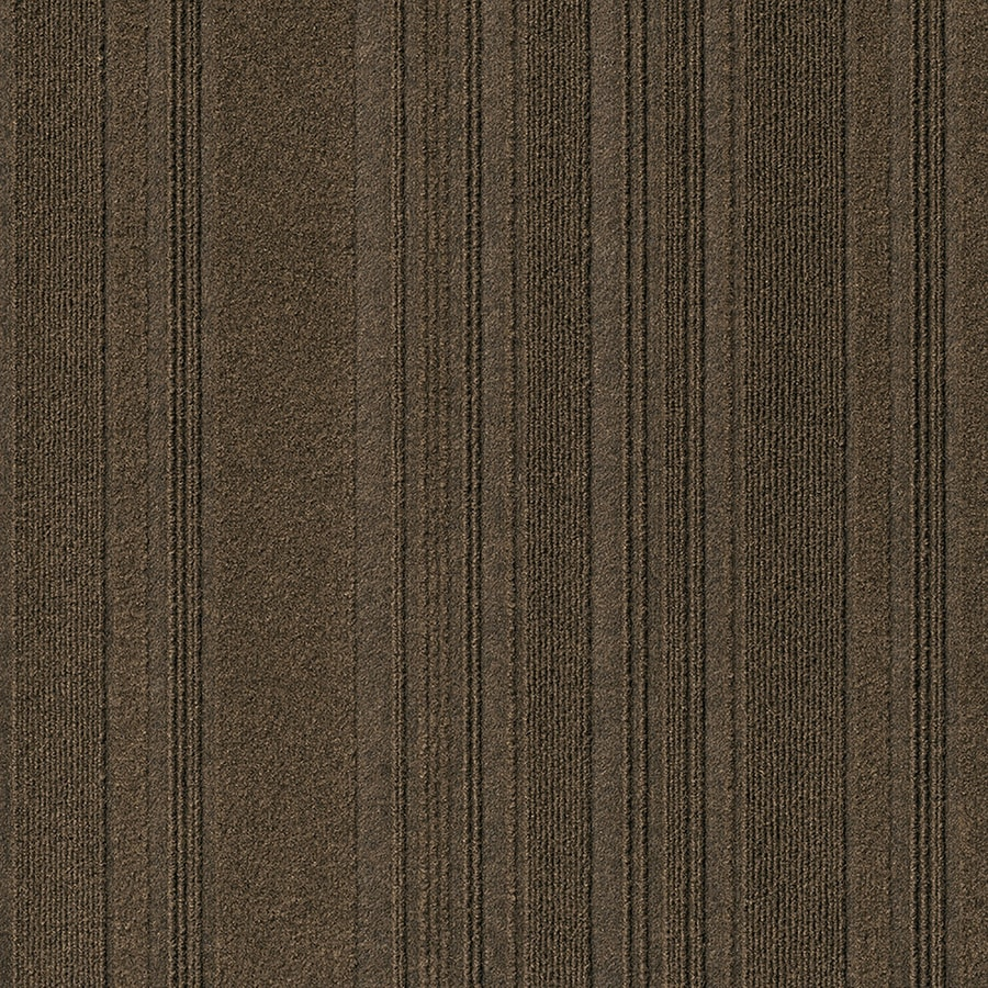 New Age 15-Pack 24-in x 24-in Mocha Needlebond Peel-And-Stick Carpet Tile