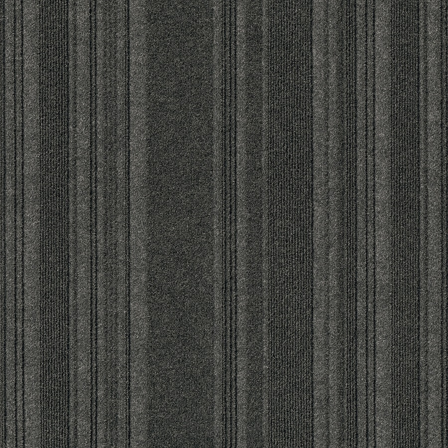 New Age 15-Pack 24-in x 24-in Black Ice Needlebond Peel-And-Stick Carpet Tile