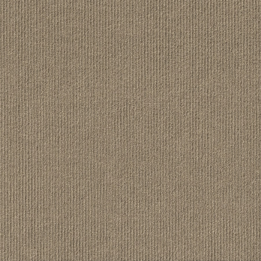 Vanguard 15-Pack 24-in x 24-in Taupe Needlebond Peel-And-Stick Carpet Tile