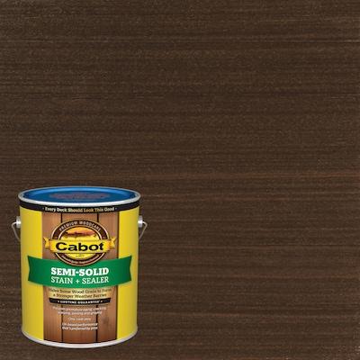 Cabot Pre-Tinted Cordovan Brown Semi-Solid Exterior Stain (Gallon)