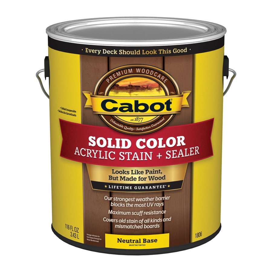 Cabot Decking Tintable Multiple Solid Exterior Stain (Actual Net Contents: 116-fl oz)