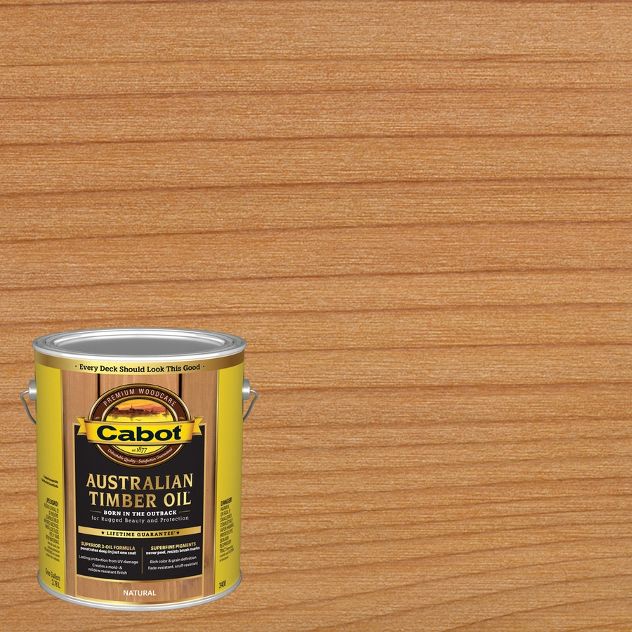 Shop Cabot Australian Timber Oil Pre Tinted Natural Transparent Exterior Stain Actual Net