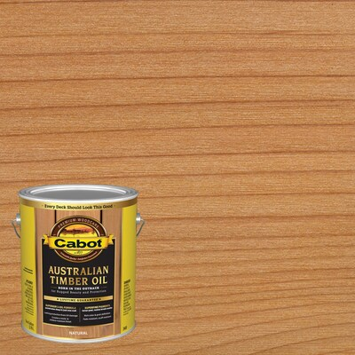 Cabot Australian Timber Oil Pre-Tinted Natural Transparent Exterior Stain and Sealer (Gallon)