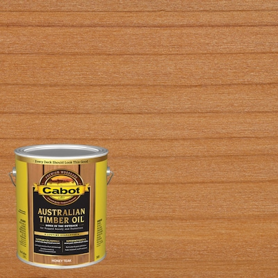 Australian Timber Oil Pre Tinted Honey Teak Transparent Exterior Stain And Sealer Actual Net Contents 128 Fl Oz