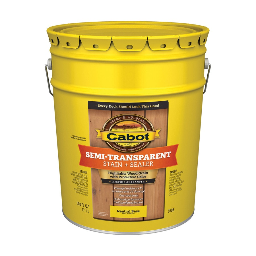 Cabot Semi-Transparent Exterior Stain (Actual Net Contents: 580-fl oz)