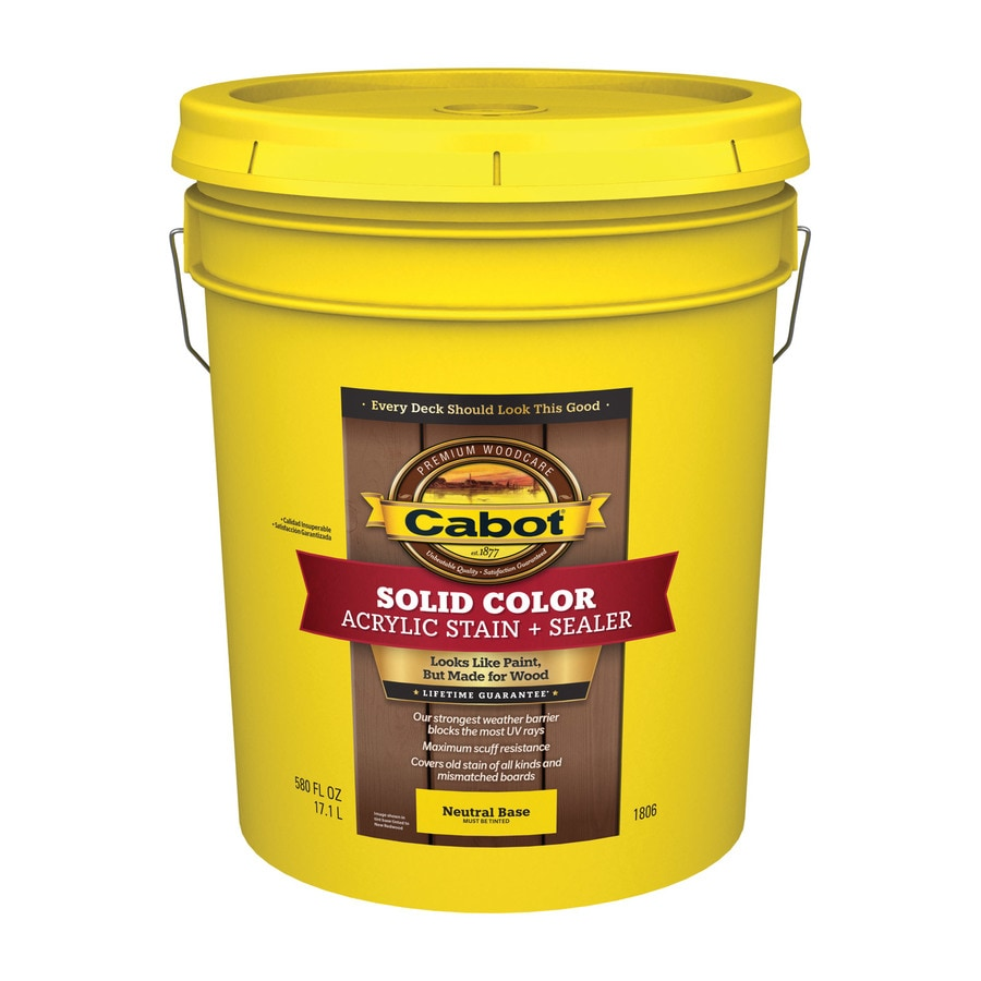 Cabot Decking Tintable Multiple Solid Exterior Stain (Actual Net Contents: 580-fl oz)