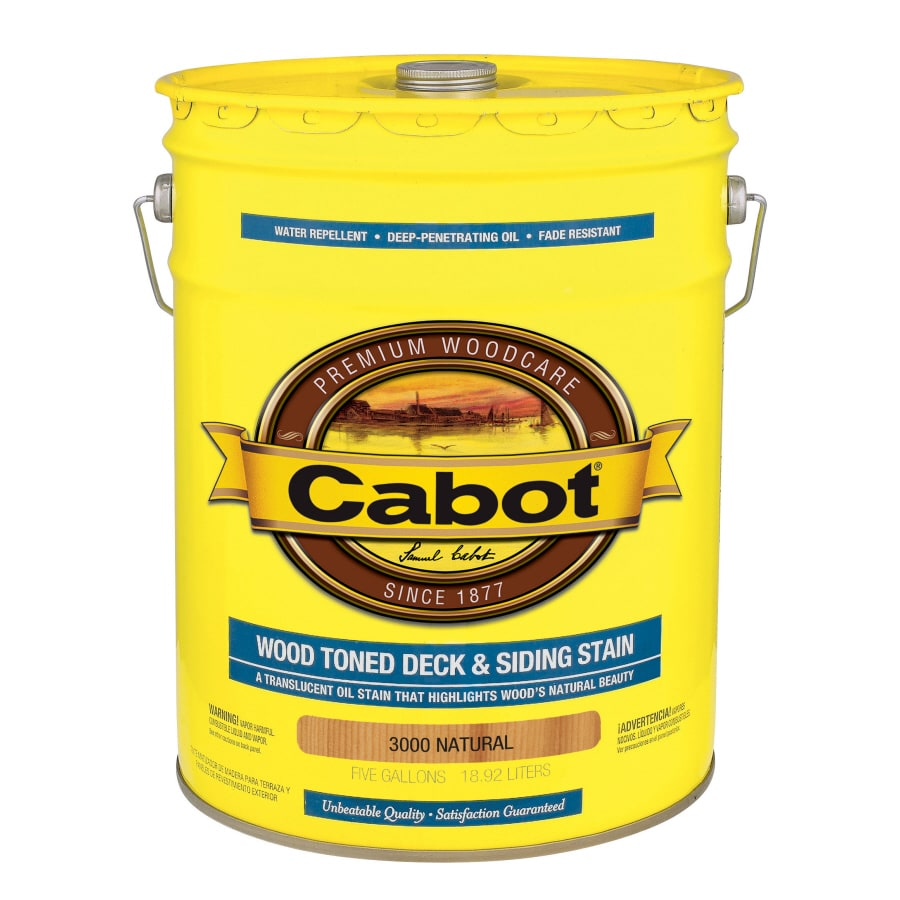 Cabot Deck and Siding Natural Transparent Exterior Stain (Actual Net Contents: 640-fl oz)