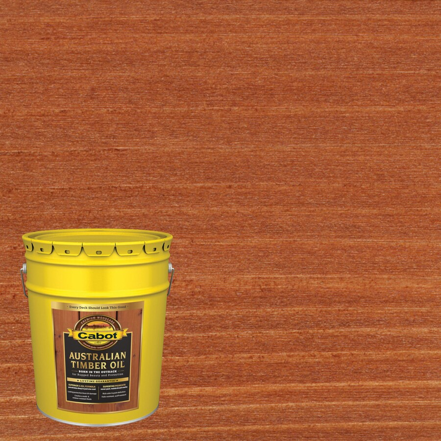 Cabot Australian Timber Oil Australian Timber Oil Mahogany Flame Transparent Exterior Stain (Actual Net Contents: 640-fl oz)