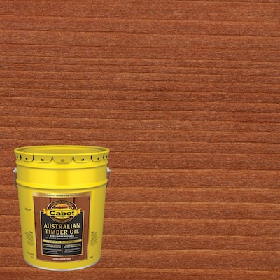 Cabot Australian Timber Oil Pre-Tinted Jarrah Brown Transparent Exterior Stain (5-Gallon)