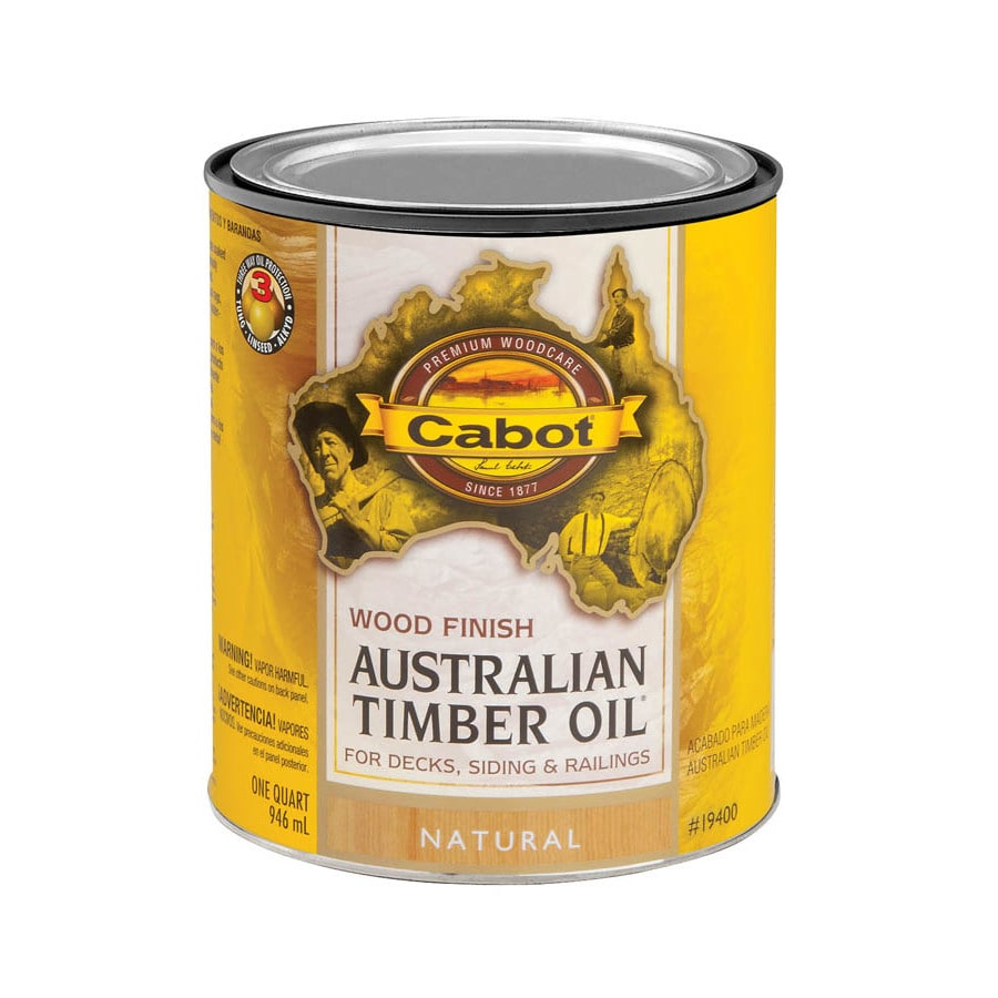 Cabot Australian Timber Oil Australian Timber Oil Natural Transparent Exterior Stain (Actual Net Contents: 32-fl oz)