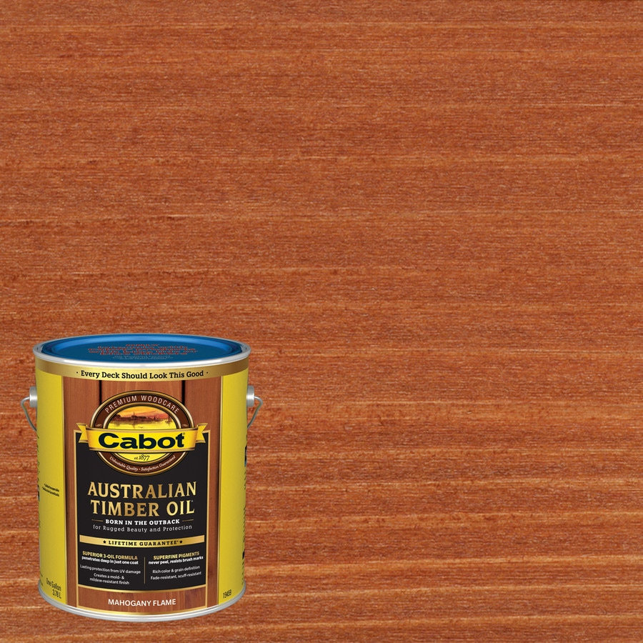 Cabot Australian Timber Oil Mahogany Flame Transparent Exterior Stain (Actual Net Contents: 128-fl oz)