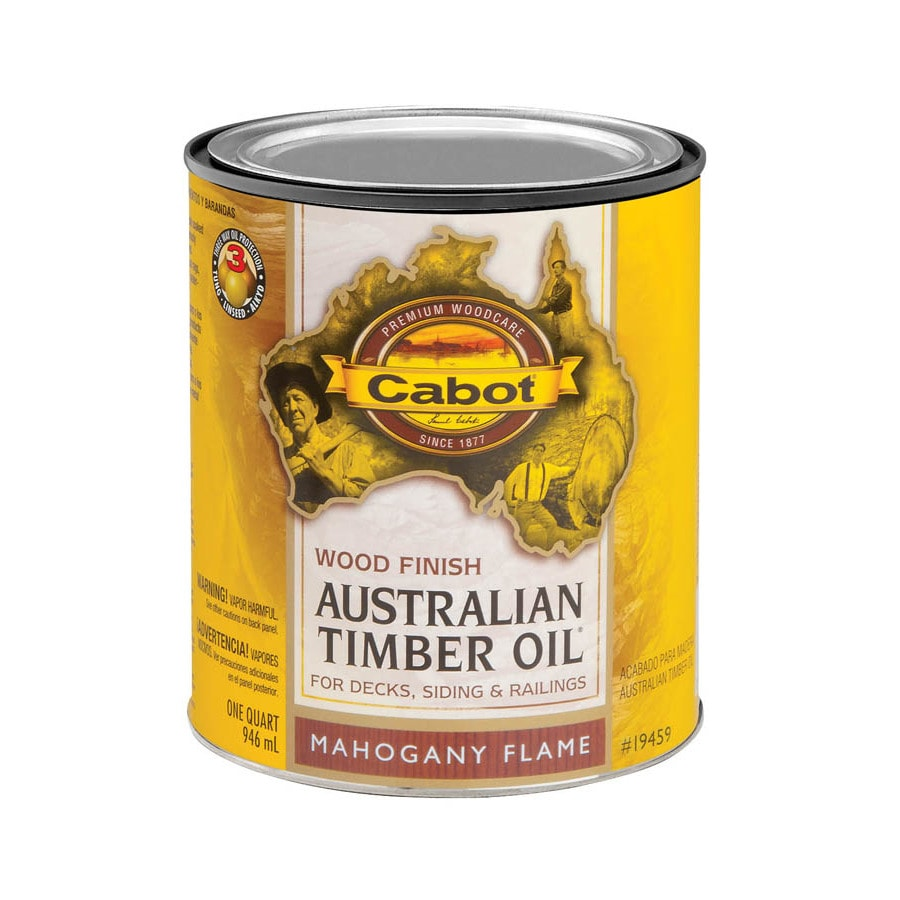 Shop Cabot Australian Timber Oil Australian Timber Oil Mahogany Flame Transparent Exterior Stain