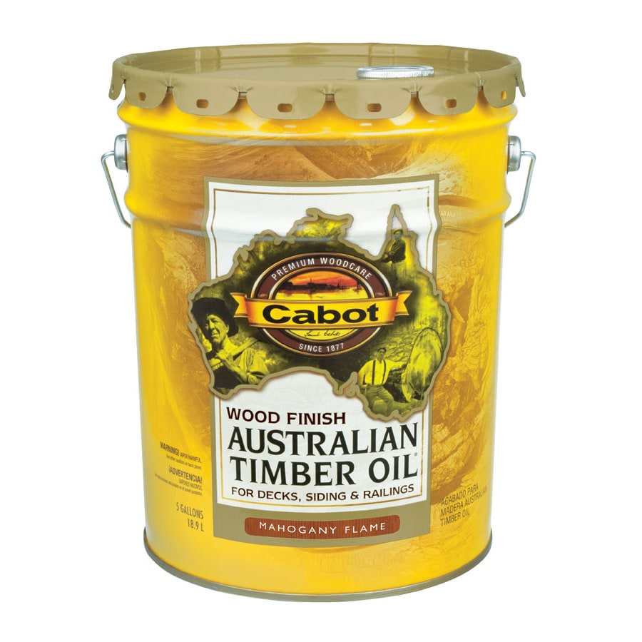 Cabot Australian Timber Oil Mahogany Flame Transparent Exterior Stain (Actual Net Contents: 640-fl oz)