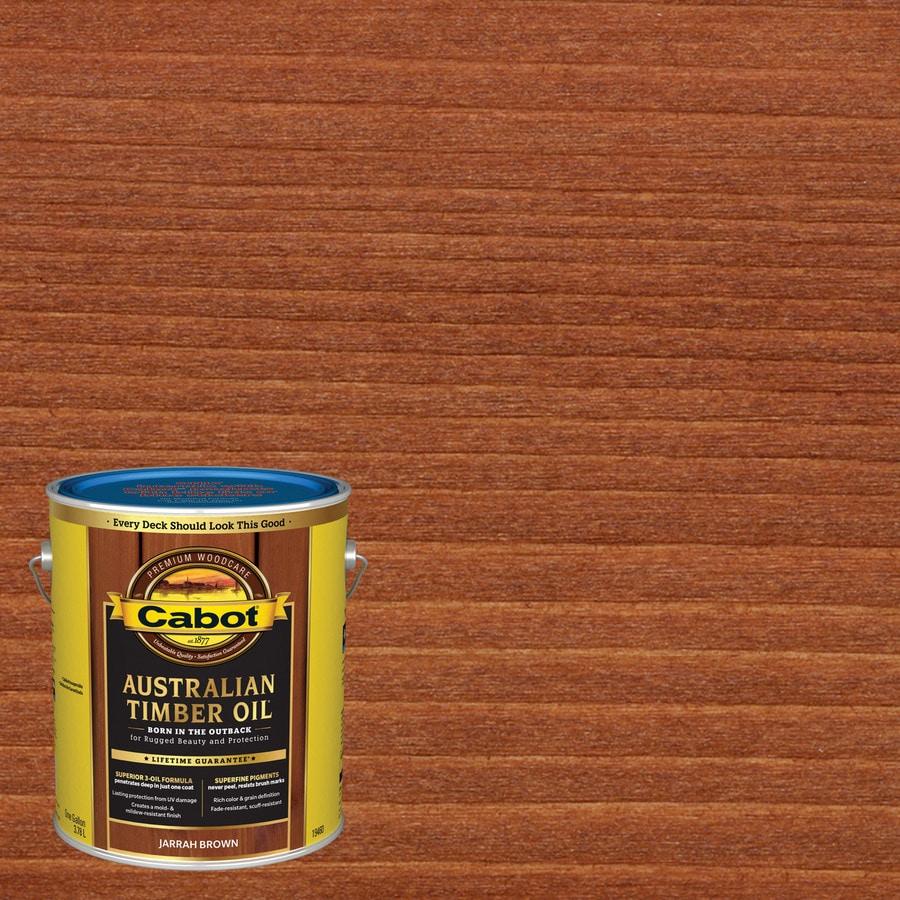 Cabot Jarrah Brown Transparent Exterior Stain (Actual Net Contents: 128 Fluid Ounce(S))