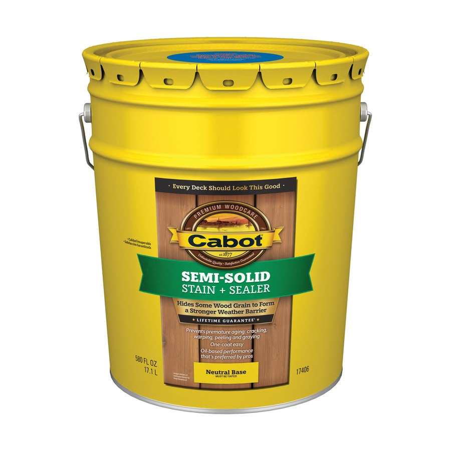 Cabot Tintable Neutral Base Semi-Transparent Exterior Stain (Actual Net Contents: 580-fl oz)
