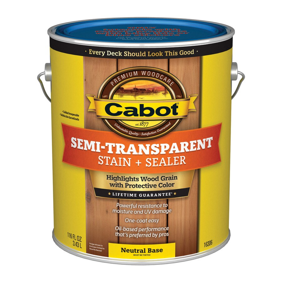 Cabot Semi-Transparent Exterior Stain (Actual Net Contents: 116-fl oz)