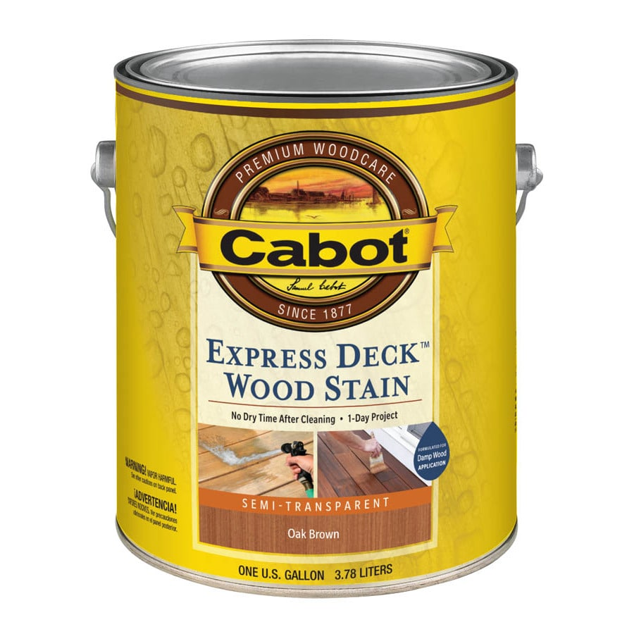 Cabot Express Deck Tintable Semi-Transparent Exterior Stain (Actual Net Contents: 128-fl oz)