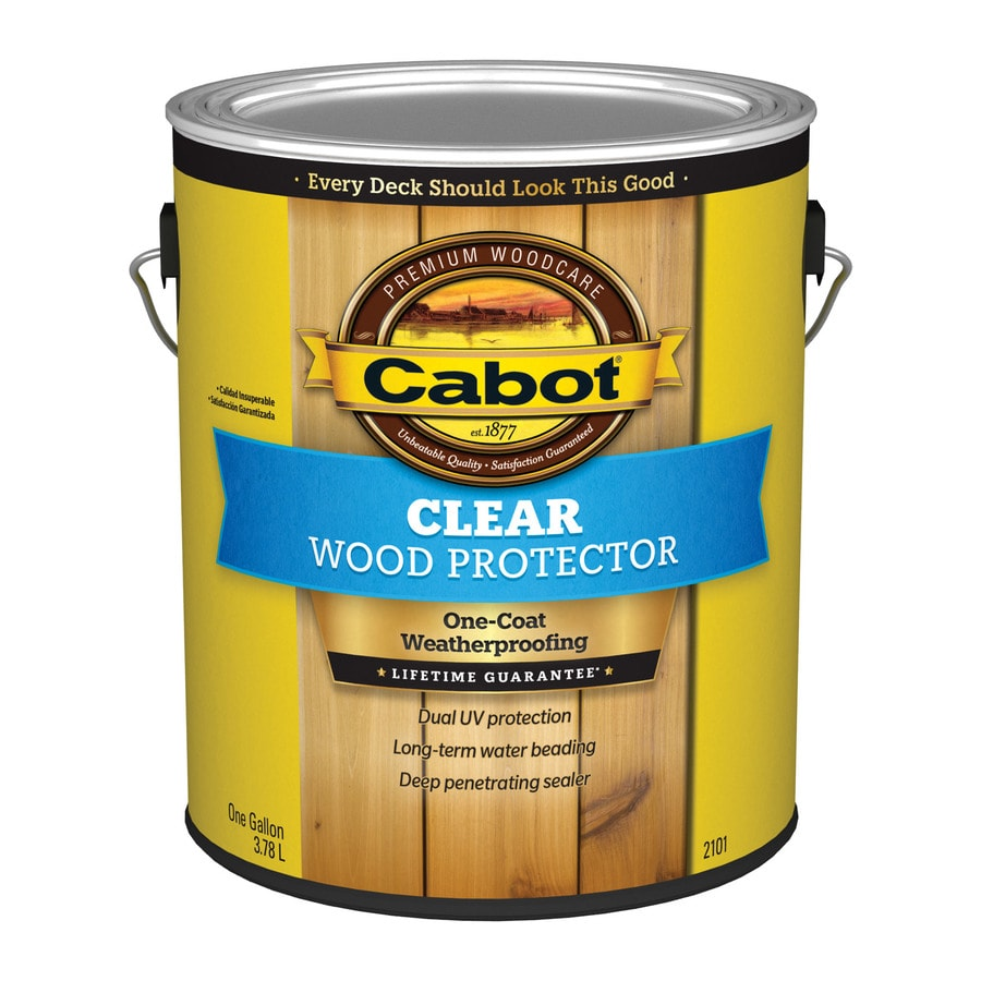Cabot Wood Protector Clear Exterior Stain Actual Net Contents 128