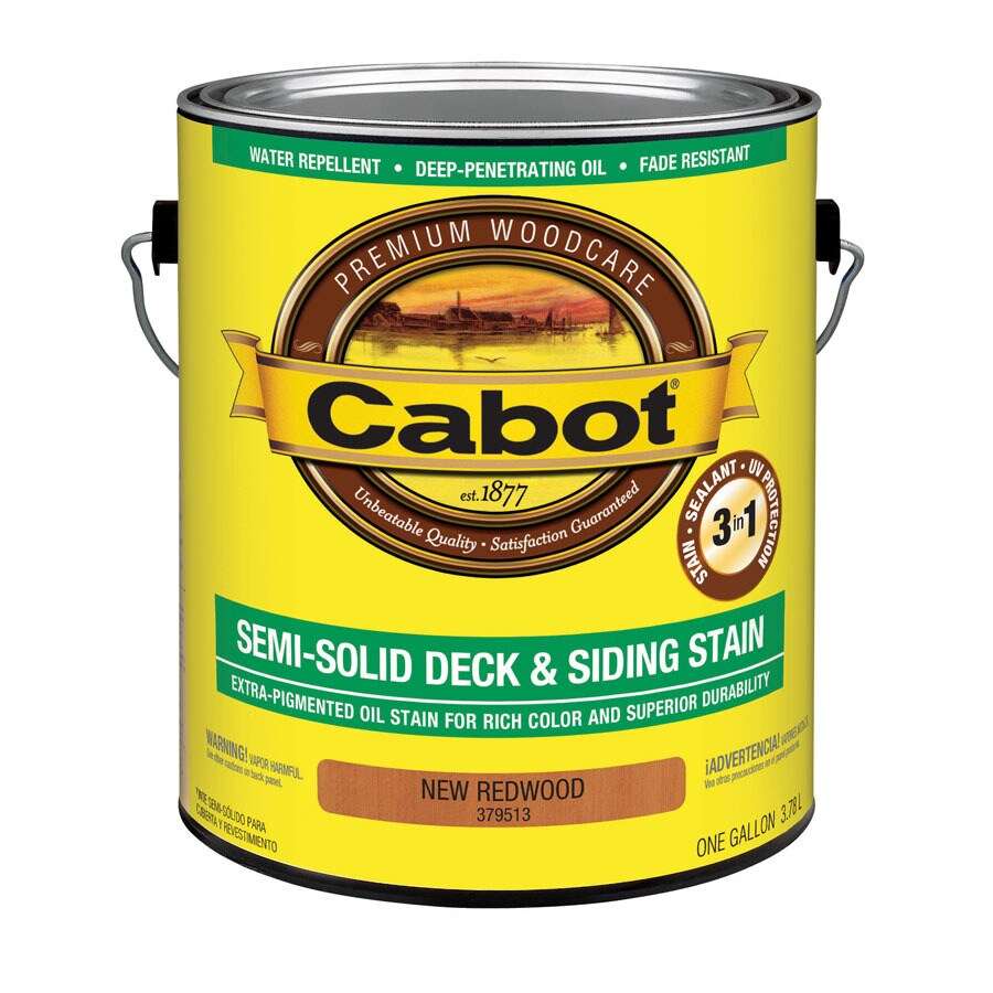 Cabot Redwood Semi-Solid Exterior Stain (Actual Net Contents: 128-fl oz)