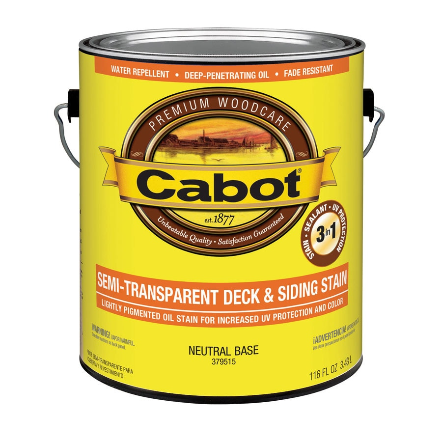 Cabot Tintable Neutral Base Semi-Transparent Exterior Stain (Actual Net Contents: 116-fl oz)