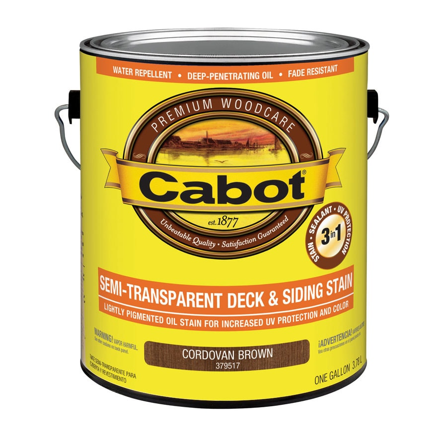 Shop Cabot Cordovan Brown Semi Transparent Exterior Stain