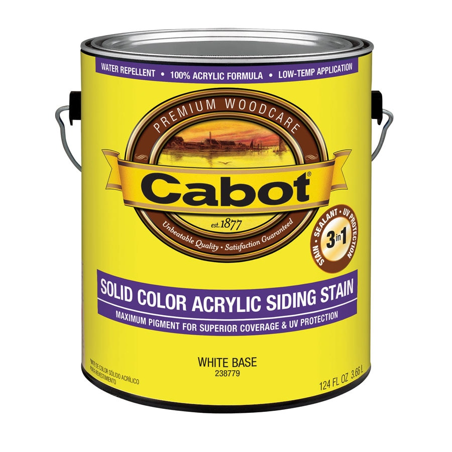 Cabot Tintable White Base Solid Exterior Stain (Actual Net Contents: 124-fl oz)