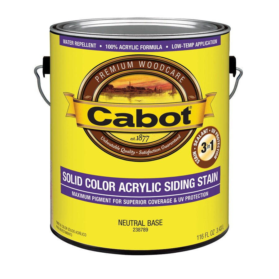 Cabot Tintable Neutral Base Solid Exterior Stain (Actual Net Contents: 116-fl oz)