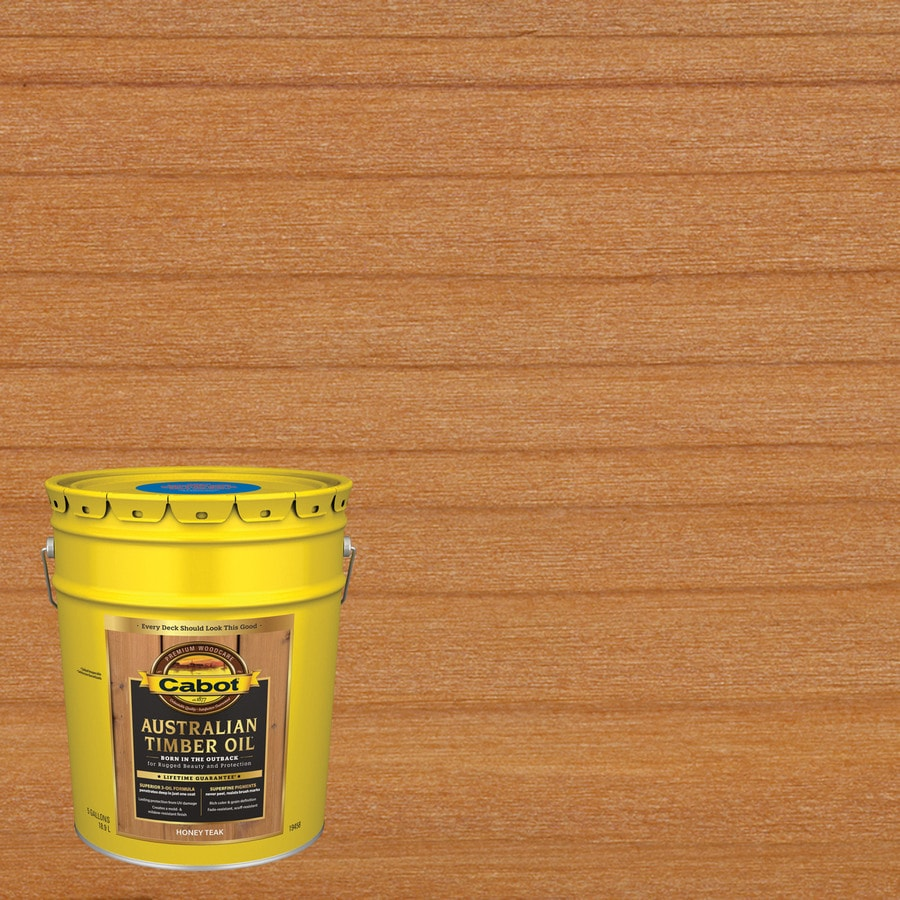 Cabot Australian Timber Oil Pre Tinted Honey Teak
