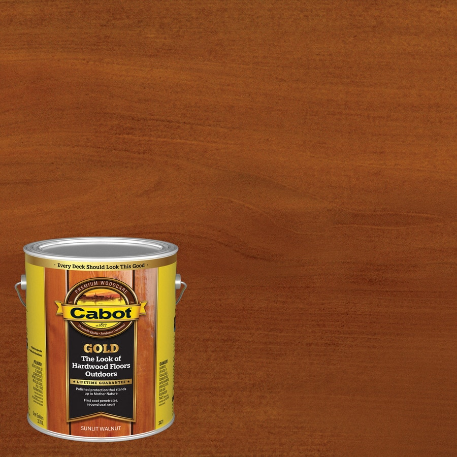 Cabot Gold Sunlit Walnut Transparent Exterior Stain (Actual Net Contents: 128-fl oz)
