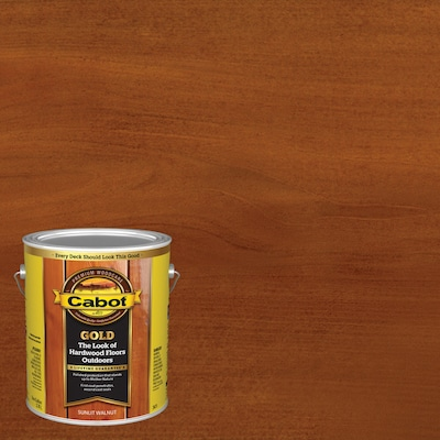 Cabot Gold Pre-Tinted Sunlit Walnut Transparent Exterior Stain and Sealer (Gallon)