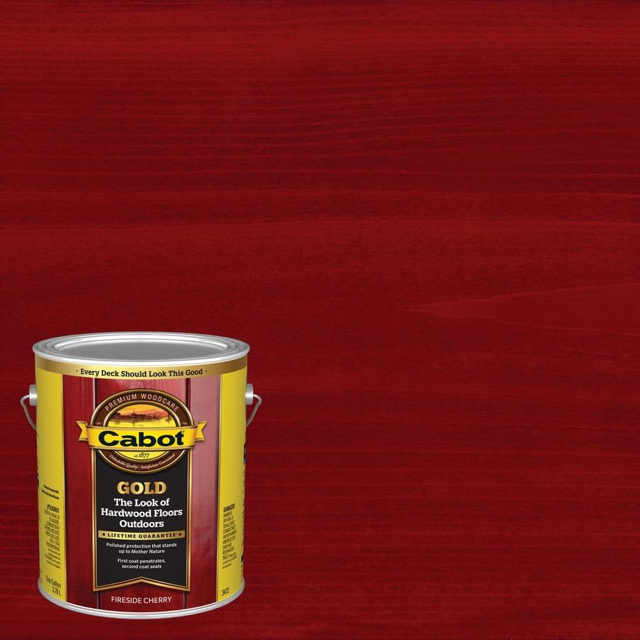 Shop Cabot Gold Fireside Cherry Transparent Exterior Stain Actual Net Contents 128 Fl Oz At