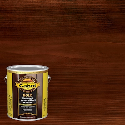 Cabot Gold Pre-Tinted Moonlit Mahogany Transparent Exterior Stain and Sealer (Gallon)