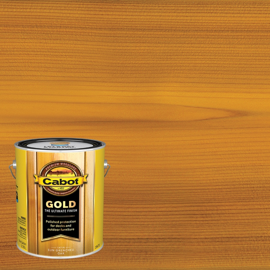 Cabot Gold Sun Drenched Oak Transparent Exterior Stain (Actual Net Contents: 128-fl oz)