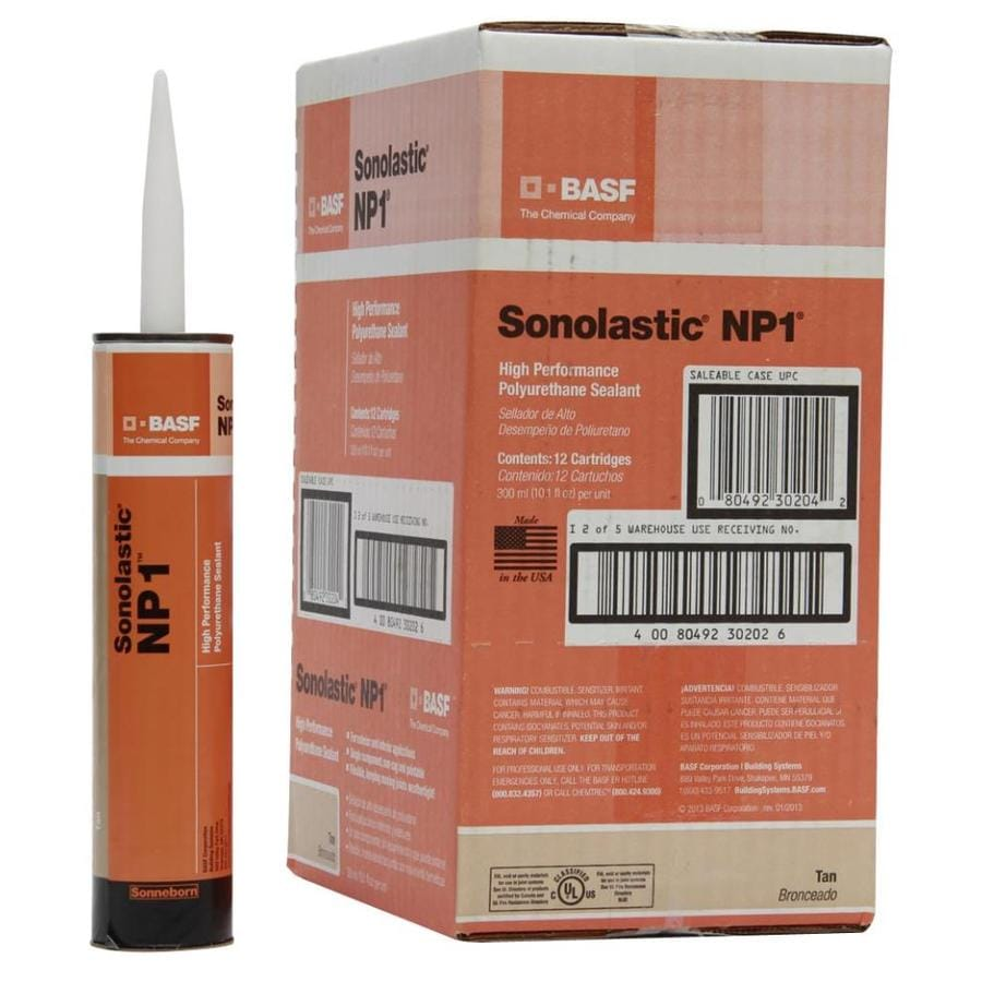 BASF NP1 121.2-oz Tan Paintable Polyurethane Window and Door Caulk