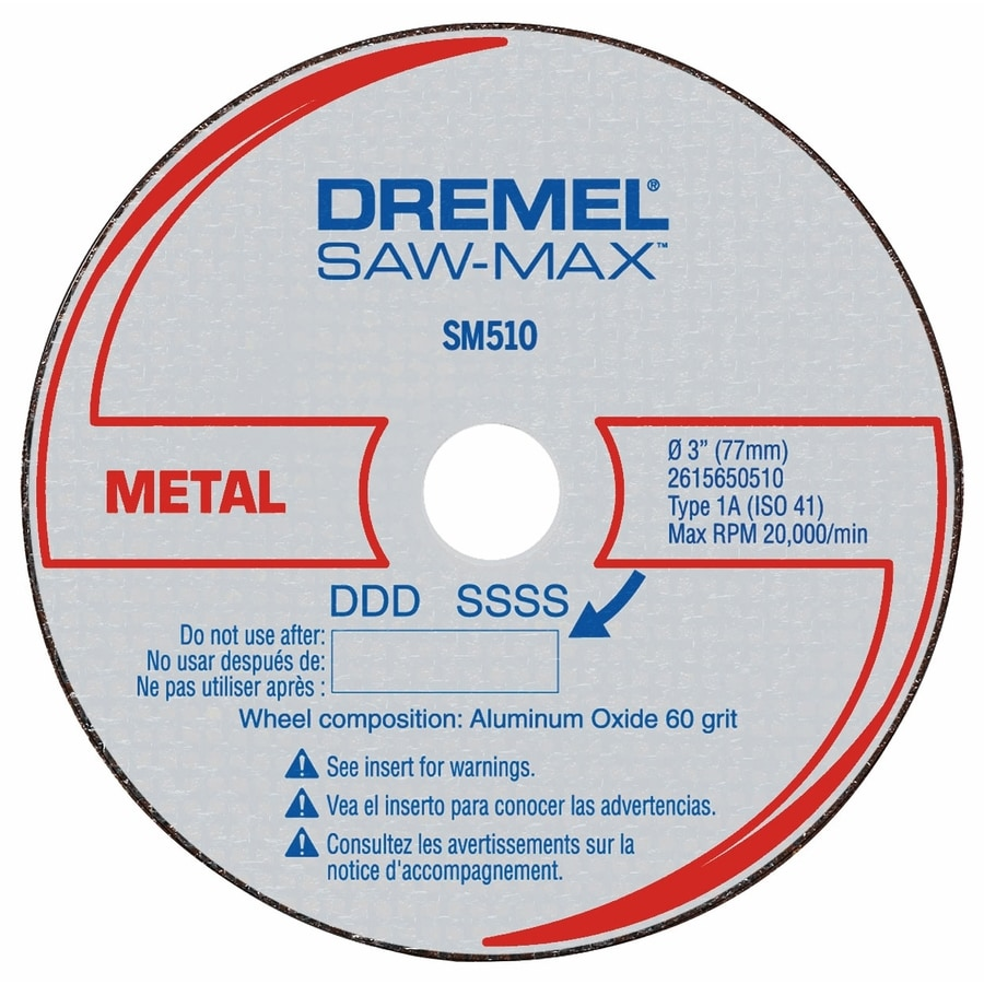 Dremel Saw-Max 3-Piece Steel 3-in Cutting Wheel