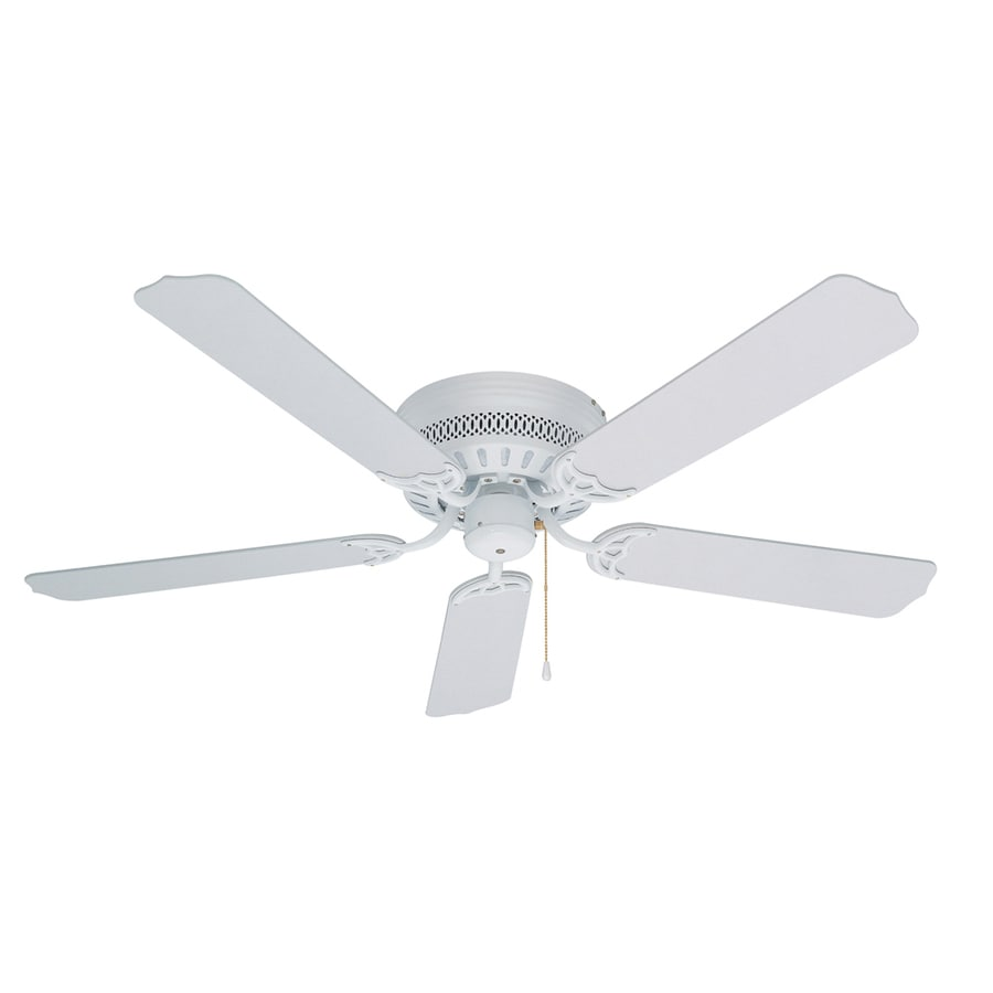 litex hugger 52in white flush mount ceiling fan