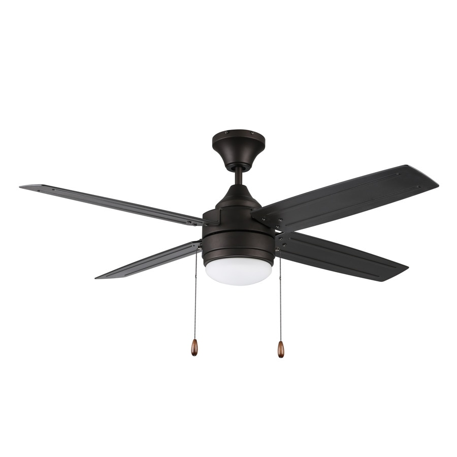 52 Ceiling Fan With Light Kit Indoor Outdoor Downrod: Litex Aikman 52-in Bronze LED Indoor/Outdoor Downrod