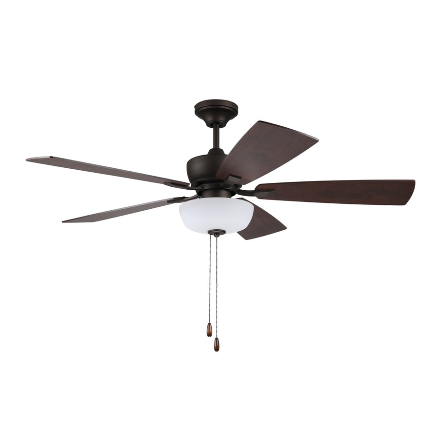 Litex Sigrid 52 In Bronze Led Indoor Ceiling Fan With