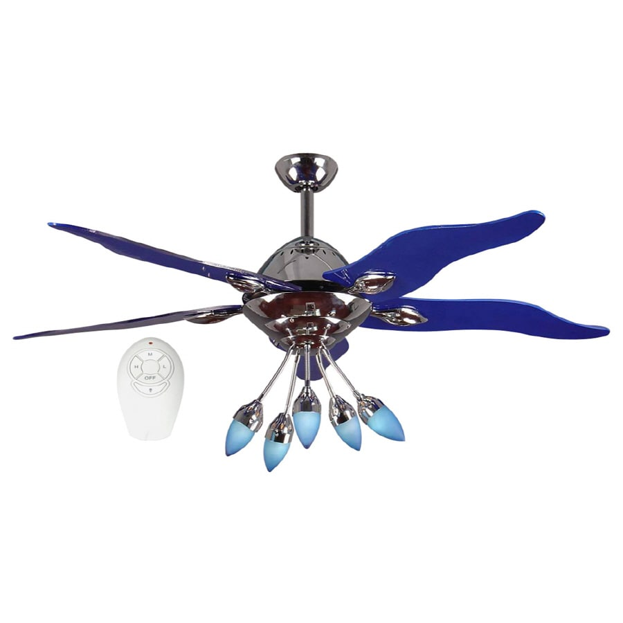 Shop harbor breeze 52 in chrome ceiling fan with light kit and harbor breeze 52 in chrome ceiling fan with light kit and remote aloadofball Choice Image