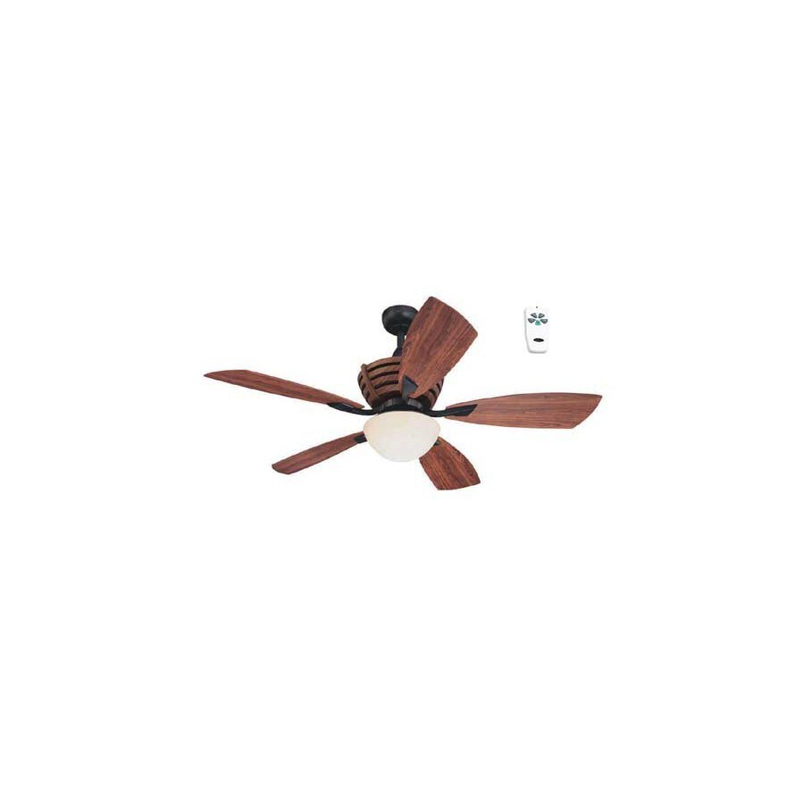 Harbor Breeze 52-in Matte Black Downrod Mount Indoor/Outdoor Ceiling Fan with Light Kit and Remote
